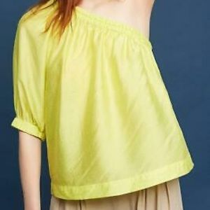 Anthropologie Maeve Leonie One-shoulder Blouse